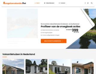 bungalowvakantie.net screenshot