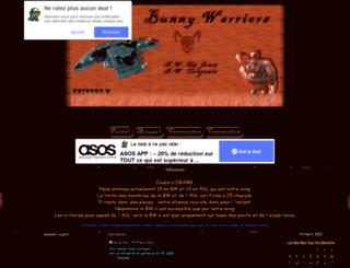 bunnywarriors.forum-actif.net screenshot