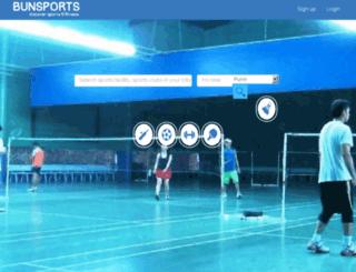 bunsports.com screenshot