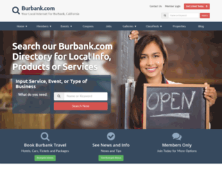 burbank.com screenshot
