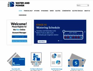 burbankwaterandpower.com screenshot