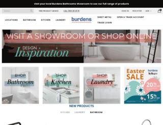 burdensbathrooms.com.au screenshot