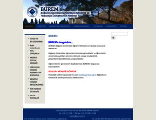 burem.boun.edu.tr screenshot