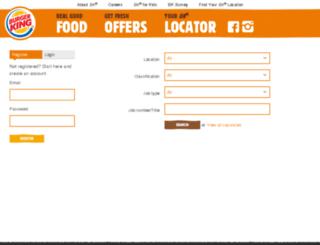 burgerking.careercentre.net.nz screenshot