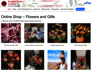 burgessflorist.co.za screenshot