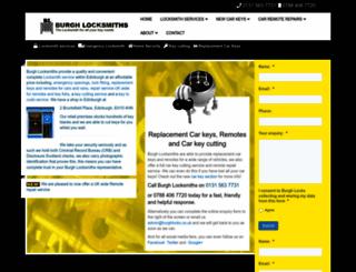 burghlocksmiths.co.uk screenshot
