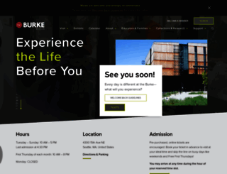 burkemuseum.org screenshot