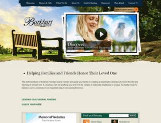 burkhartfuneralservice.com screenshot