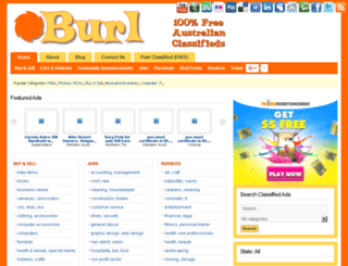 burl.com.au screenshot