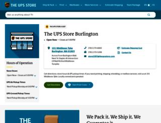 burlington-ma-2287.theupsstorelocal.com screenshot
