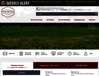 burlington.org screenshot