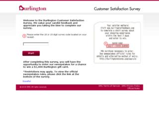 burlingtonfeedback.com screenshot