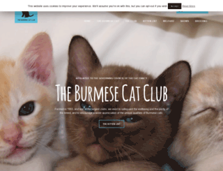 burmesecatclub.com screenshot