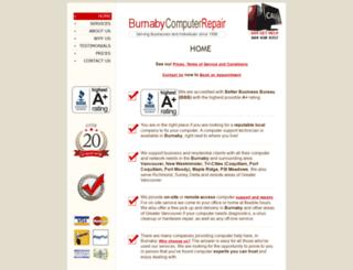 burnabycomputerrepair.com screenshot