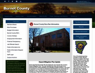 burnetcountytexas.org screenshot