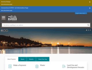 burnie.tas.gov.au screenshot