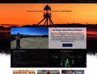 burningman.com screenshot