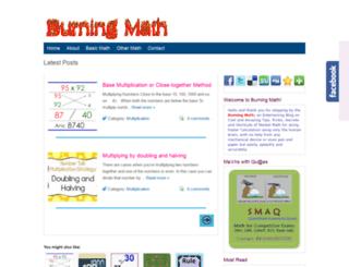 burningmath.blogspot.com screenshot
