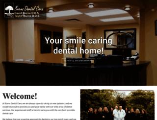 burnsdentalcare.com screenshot