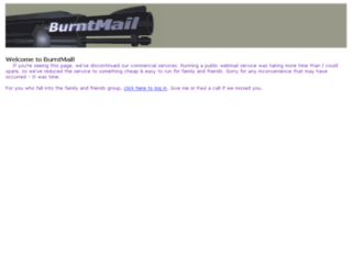 burntmail.com screenshot