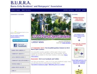 burra.org.au screenshot