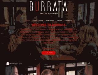 burrata.co.za screenshot