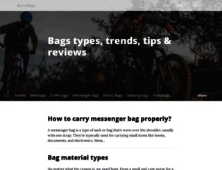 burrobags.com screenshot