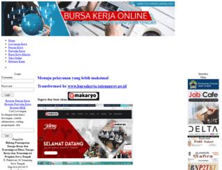 bursakerja-jateng.com screenshot