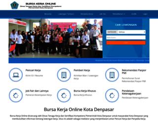 bursakerja.denpasarkota.go.id screenshot