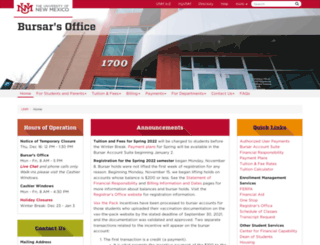 bursar.unm.edu screenshot