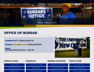 bursar.uno.edu screenshot