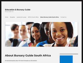 bursaryguide.co.za screenshot