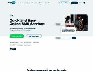 burstsms.com screenshot