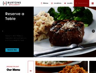 burtonsgrill.com screenshot