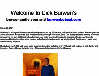 burwenaudio.com screenshot