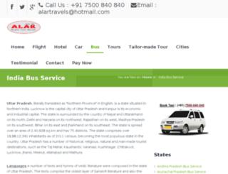 bus.alartravels.com screenshot
