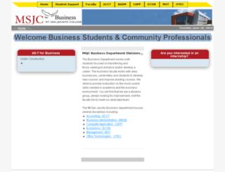 bus.msjc.edu screenshot