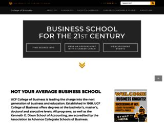 bus.ucf.edu screenshot