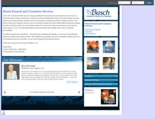 buschfuneral.tributes.com screenshot