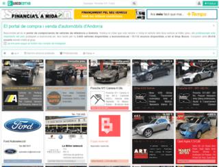 buscocotxe.ad screenshot