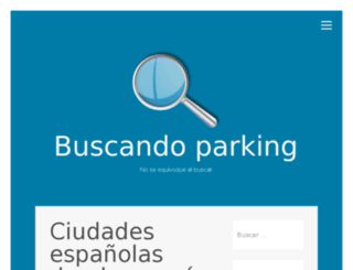 buscoparkings.com screenshot