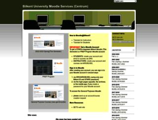 busel-moodle.bilkent.edu.tr screenshot