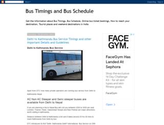 busesfrom.blogspot.in screenshot