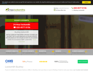busheymaxlocksmith.co.uk screenshot