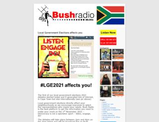 bushradio.co.za screenshot