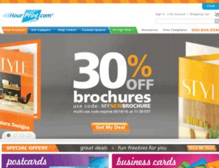 business-cards.48hourprint.com screenshot