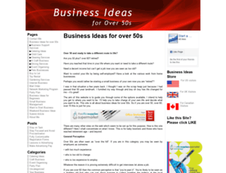 business-ideas-for-over50s.com screenshot