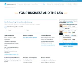 business-law.lawyers.com screenshot
