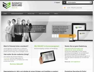 business-sedcard.de screenshot