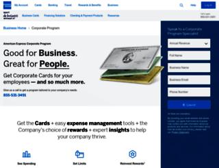 business.americanexpress.com screenshot
